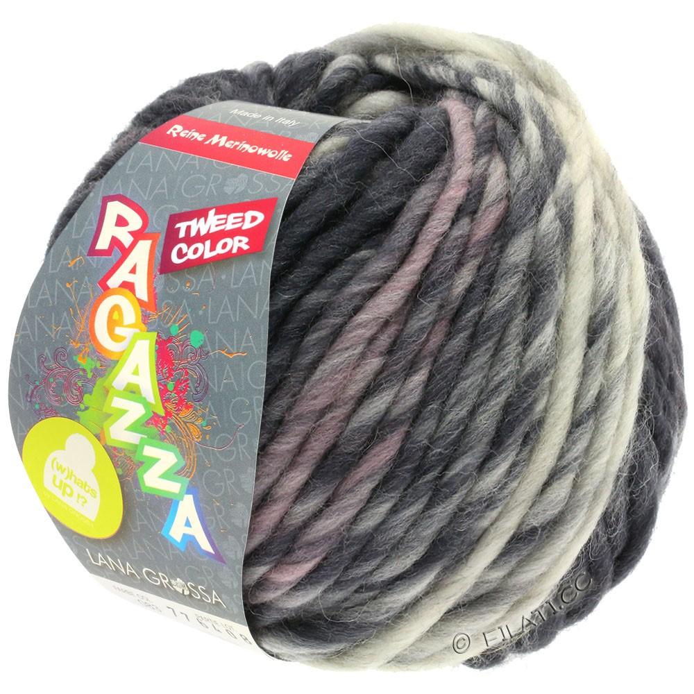 Lana Grossa LEI Tweed Color (Ragazza) | 405-licht grijs/middelen grijs/donker grijs gemêleerd