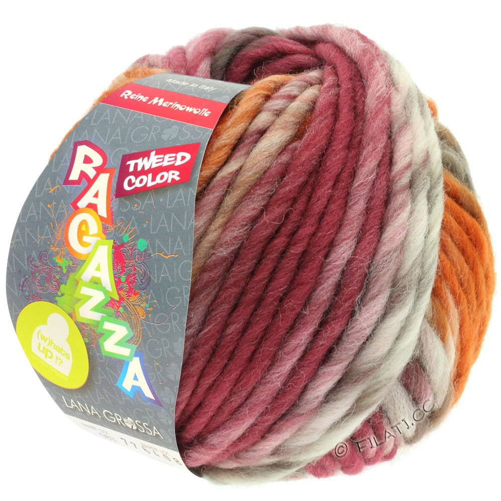 Lana Grossa LEI Tweed Color (Ragazza) | 406-natuur/taupe/chocoladebruin/rozenhout/cognac gemêleerd