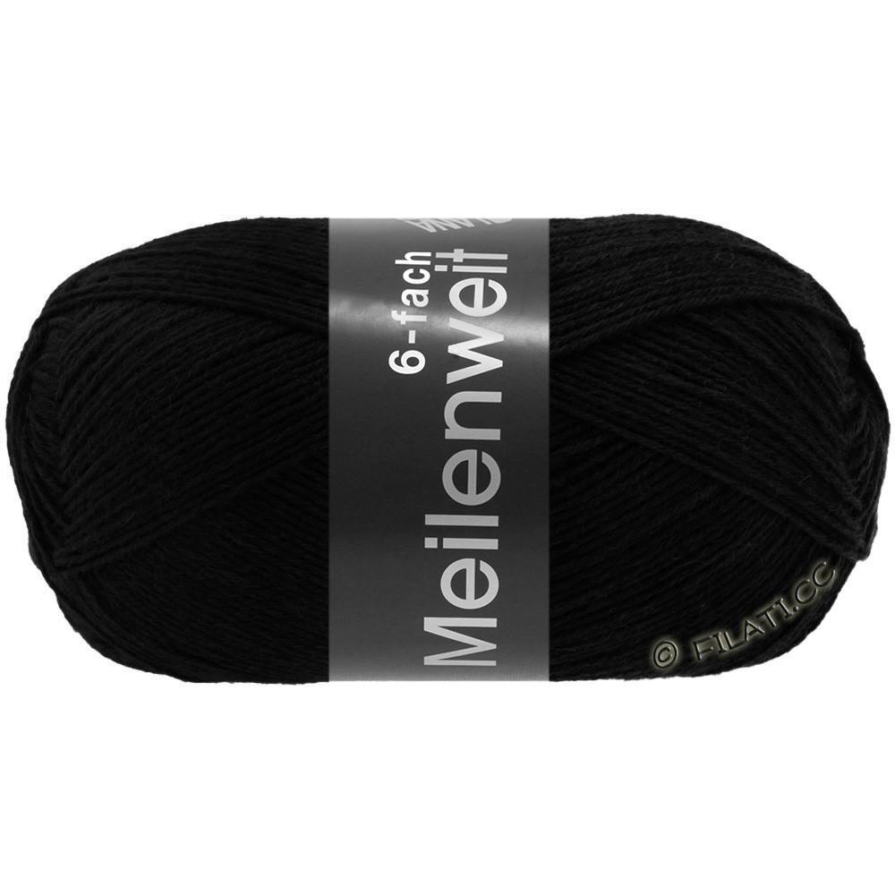 Lana Grossa MEILENWEIT 6-FACH 150g Uni | 8814-zwart