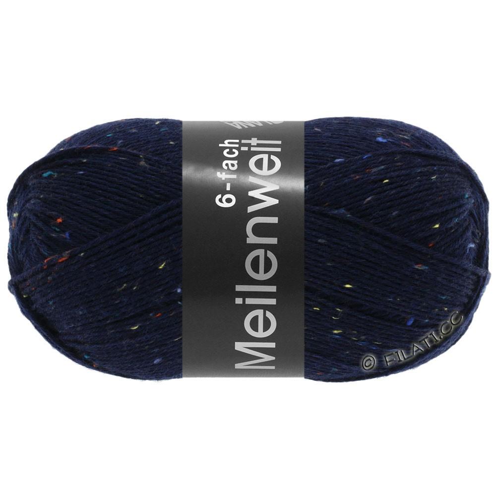 Lana Grossa MEILENWEIT 6-FACH 150g Print/Tweed | 8816-nacht blauw gemêleerd