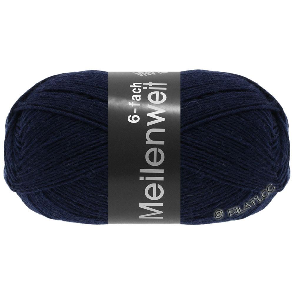 Lana Grossa MEILENWEIT 6-FACH 150g Uni | 8963-nacht blauw