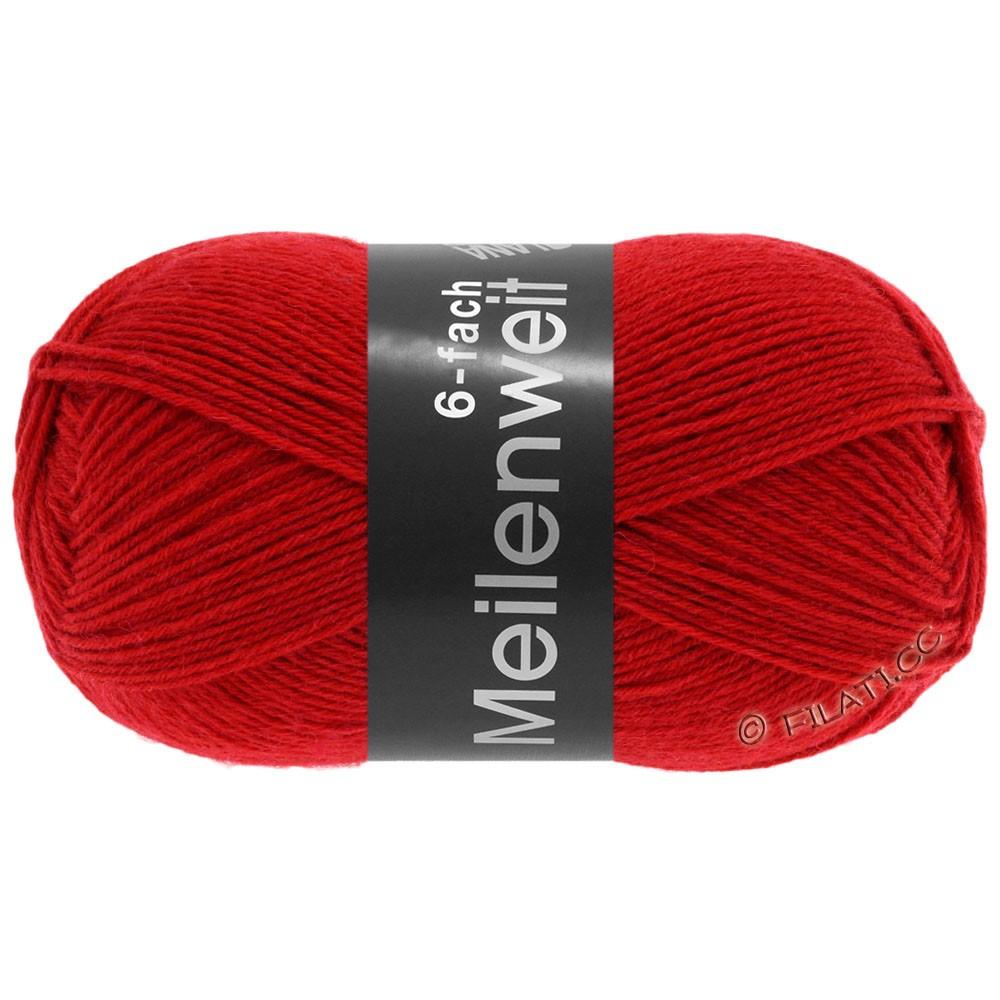 Lana Grossa MEILENWEIT 6-FACH 150g Uni | 8966-rood