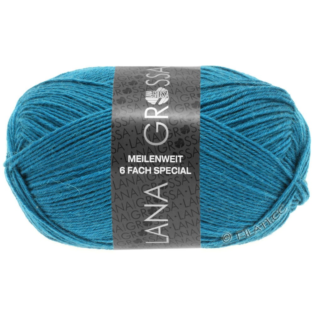 Lana Grossa MEILENWEIT 6-FACH 150g Uni | 9218-petrol blauw
