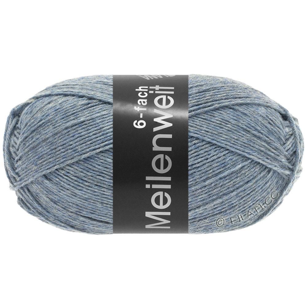 Lana Grossa MEILENWEIT 6-FACH 150g Uni | 9226-licht blauw gemêleerd