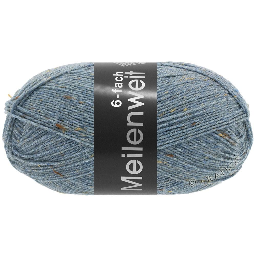 Lana Grossa MEILENWEIT 6-FACH 150g Print/Tweed | 9227-jeans blauw gemêleerd
