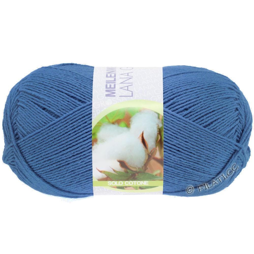 Lana Grossa MEILENWEIT 100g Solo Cotone  Unito | 3467-blauw