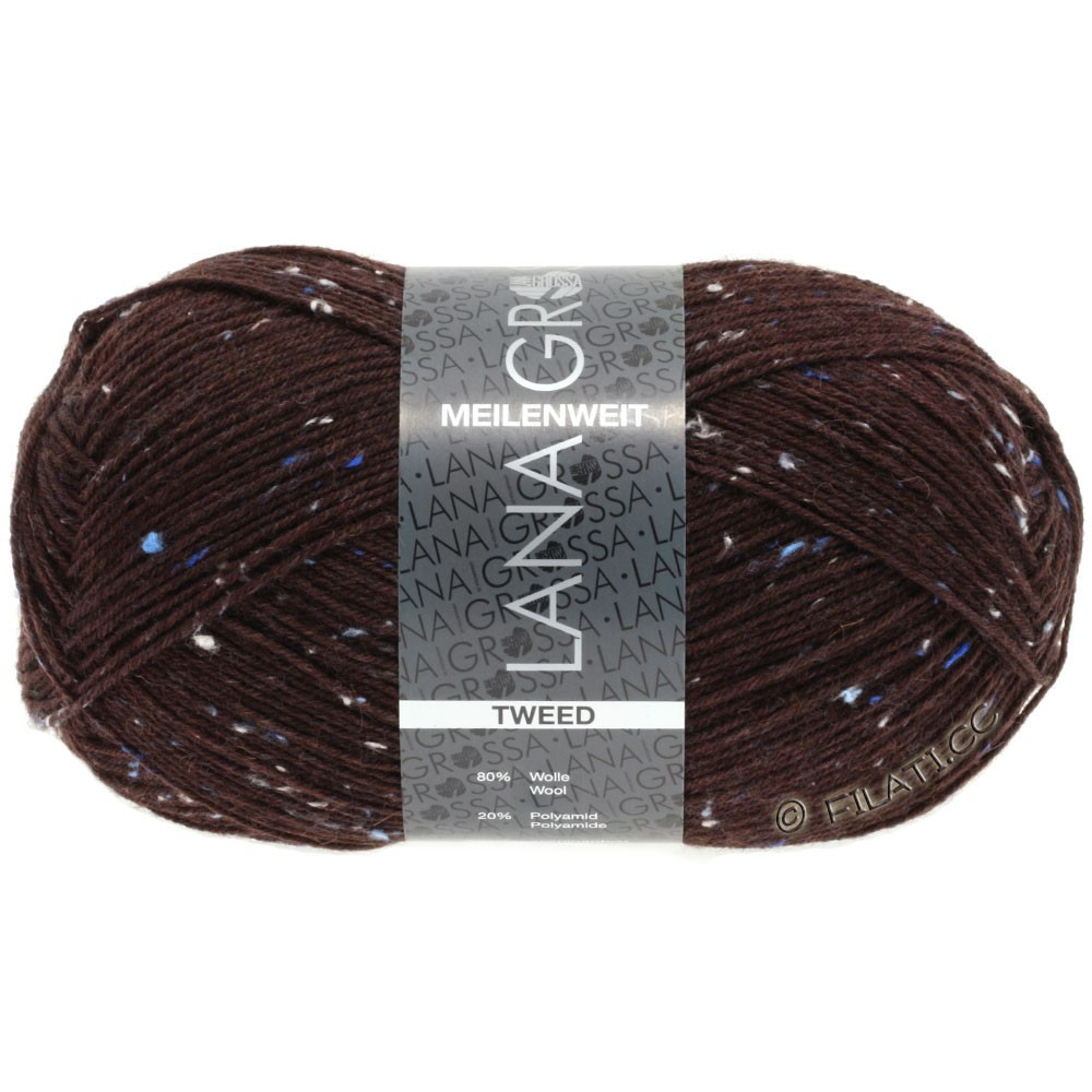 Lana Grossa MEILENWEIT 100g Tweed | 143-donker rood