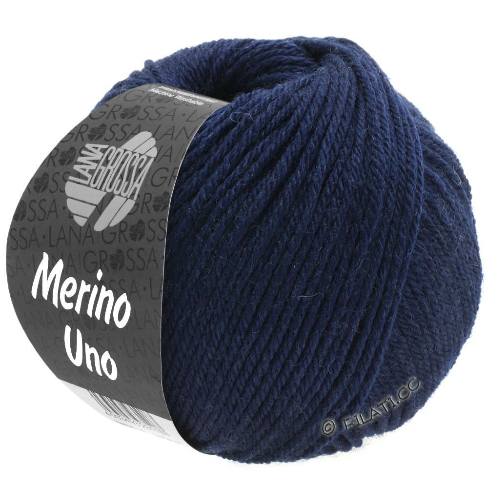 Lana Grossa MERINO UNO | 04-nacht blauw