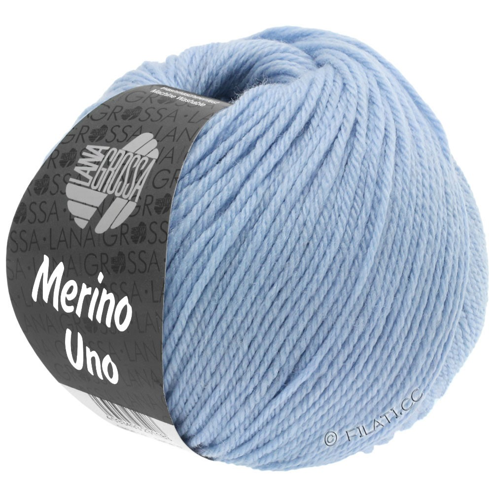 Lana Grossa MERINO UNO | 08-licht blauw