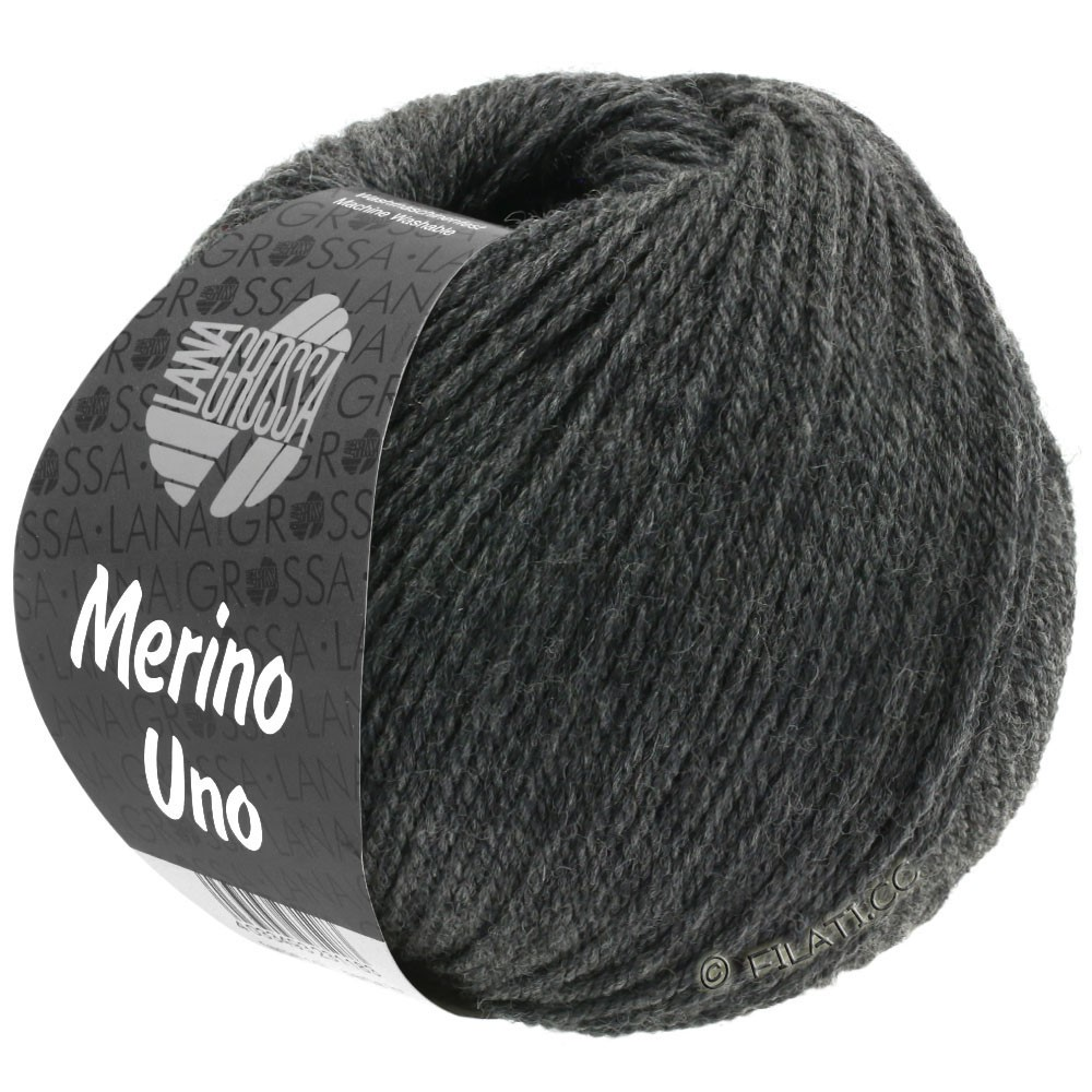 Lana Grossa MERINO UNO | 11-donker grijs