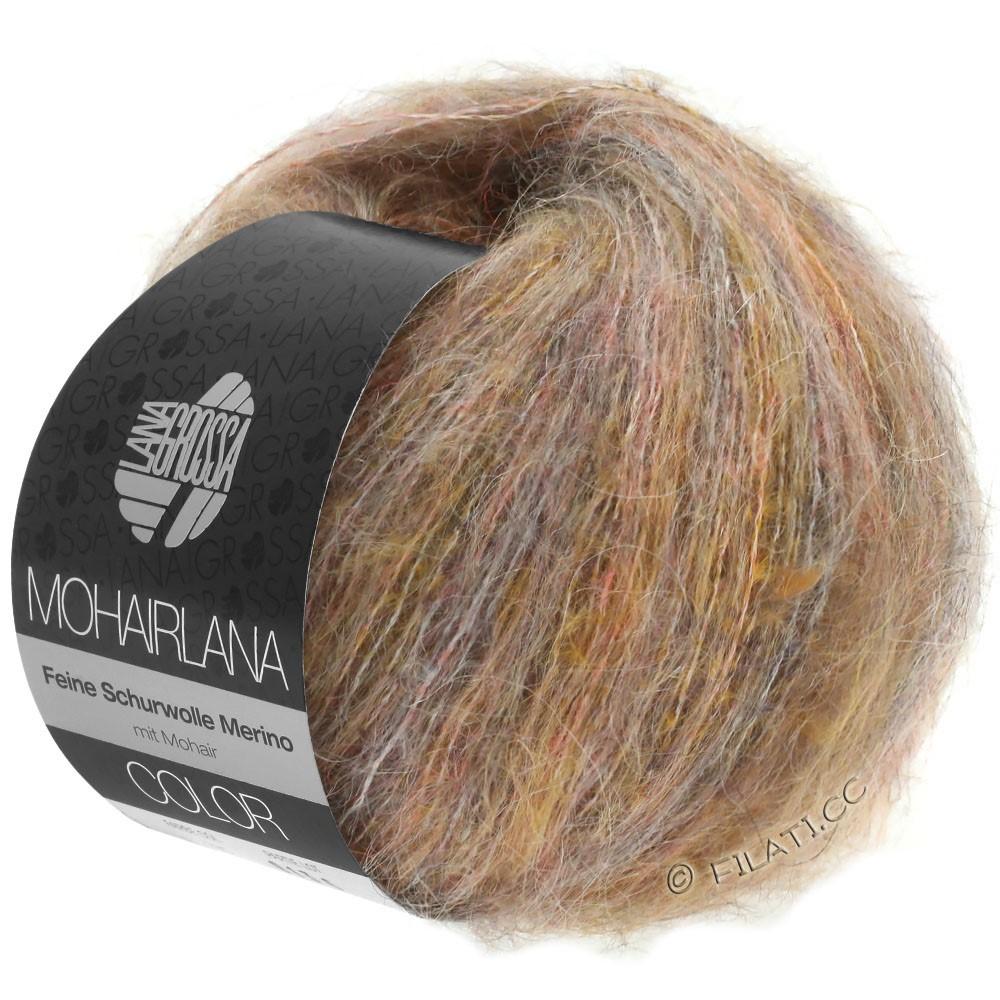 Lana Grossa MOHAIRLANA COLOR | 101-taupe/licht oranje