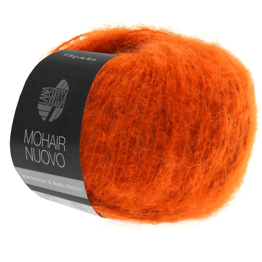 Lana Grossa MOHAIRNUOVO | 11-donker oranje