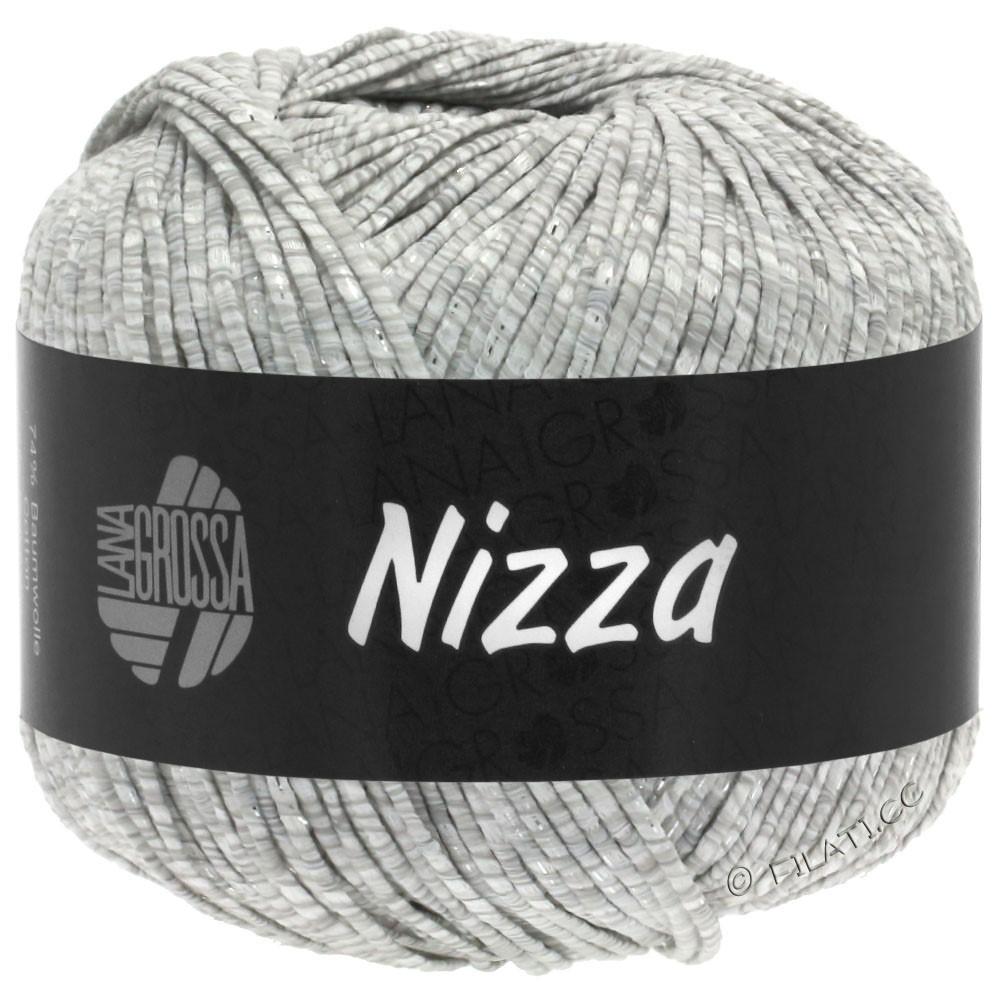 Lana Grossa NIZZA | 01-wit/licht grijs/zilver