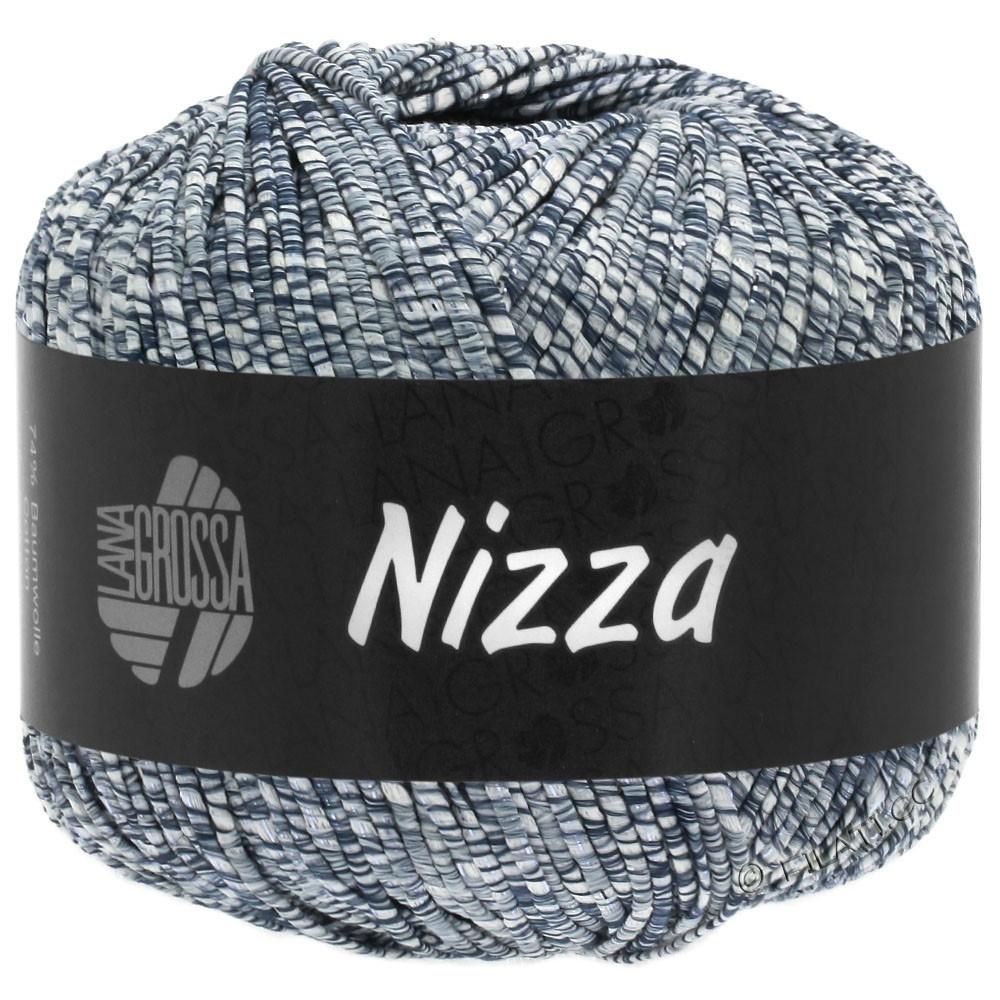 Lana Grossa NIZZA | 05-wit/jeans/zilver
