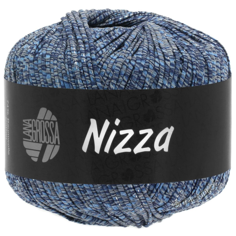 Lana Grossa NIZZA | 06-grijs blauw/marine/zilver