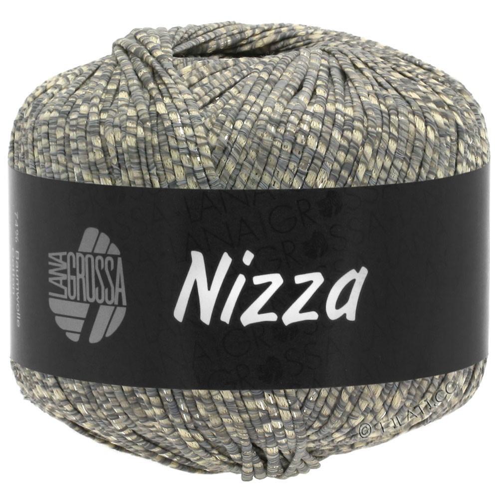 Lana Grossa NIZZA | 08-beige/grijs/zilver