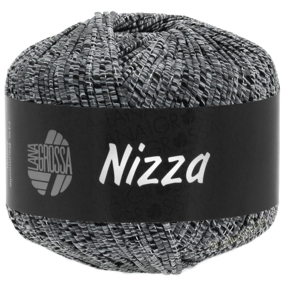 Lana Grossa NIZZA | 12-licht grijs/zwart/zilver