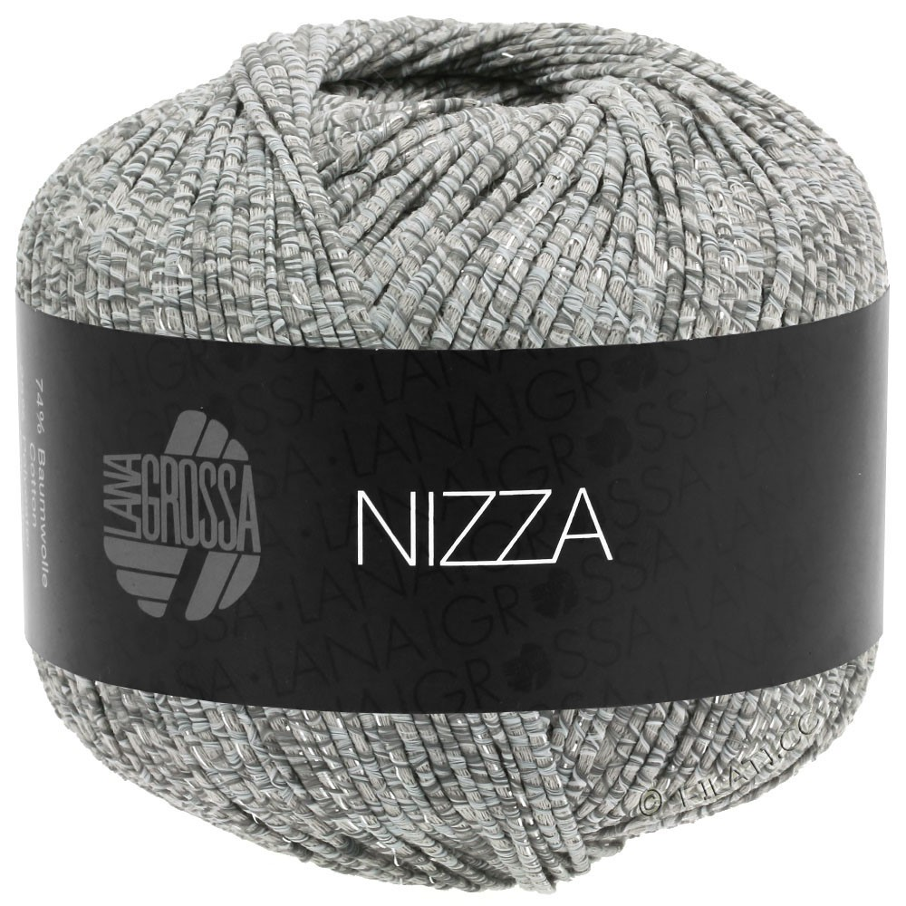 Lana Grossa NIZZA | 13-wit/grijs/beige/zilver