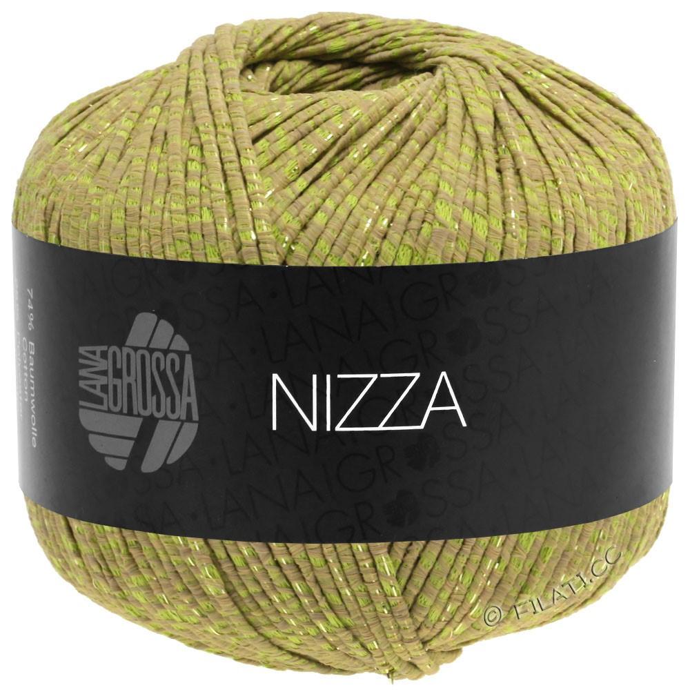 Lana Grossa NIZZA | 14-kameel/geelgroen/goud