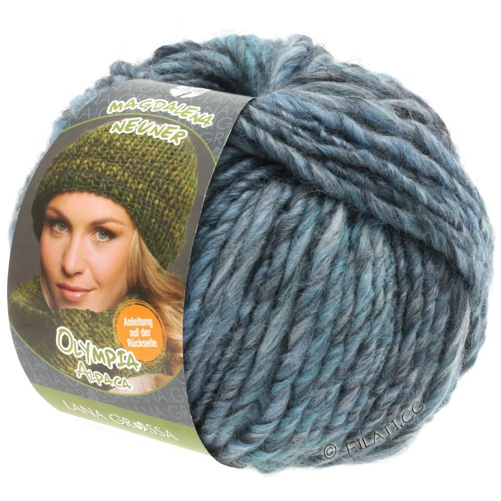 Lana Grossa OLYMPIA Alpaca | 901-jeans/groenblauw gemêleerd
