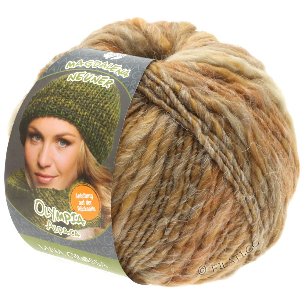Lana Grossa OLYMPIA Alpaca | 906-beige/zand/taupe gemêleerd