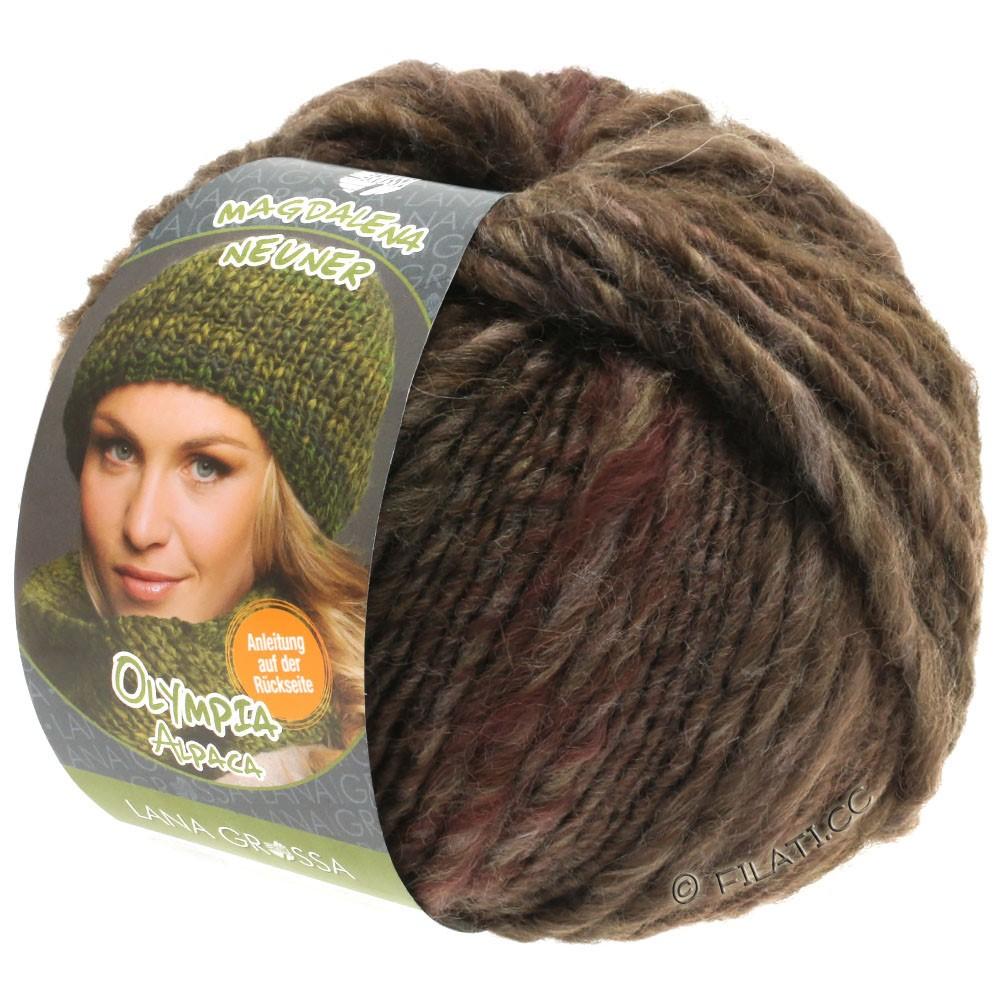 Lana Grossa OLYMPIA Alpaca | 907-grijs bruin/donker bruin gemêleerd