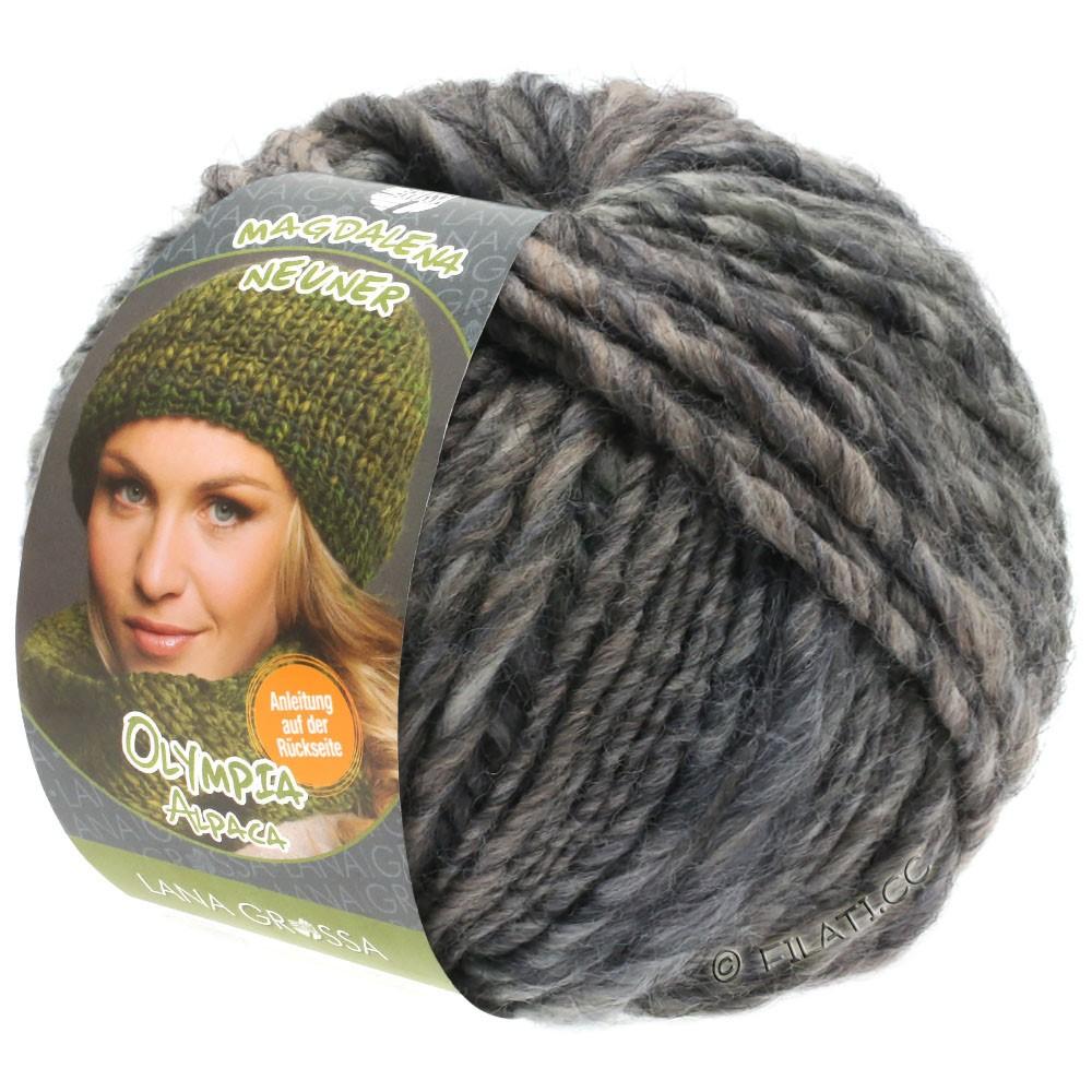 Lana Grossa OLYMPIA Alpaca | 908-taupe/donker grijs gemêleerd