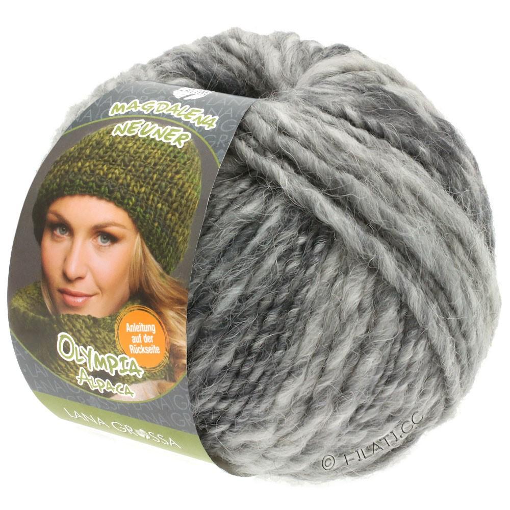Lana Grossa OLYMPIA Alpaca | 910-zilvergrijs/licht grijs/middelen grijs gemêleerd