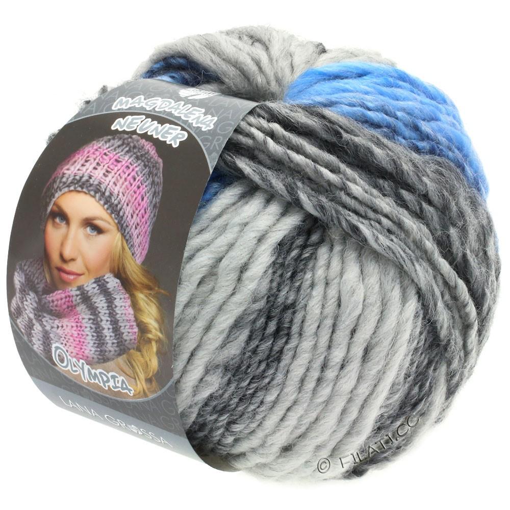Lana Grossa OLYMPIA Grey | 802-donker grijs/licht grijs/jeans/korenbloem