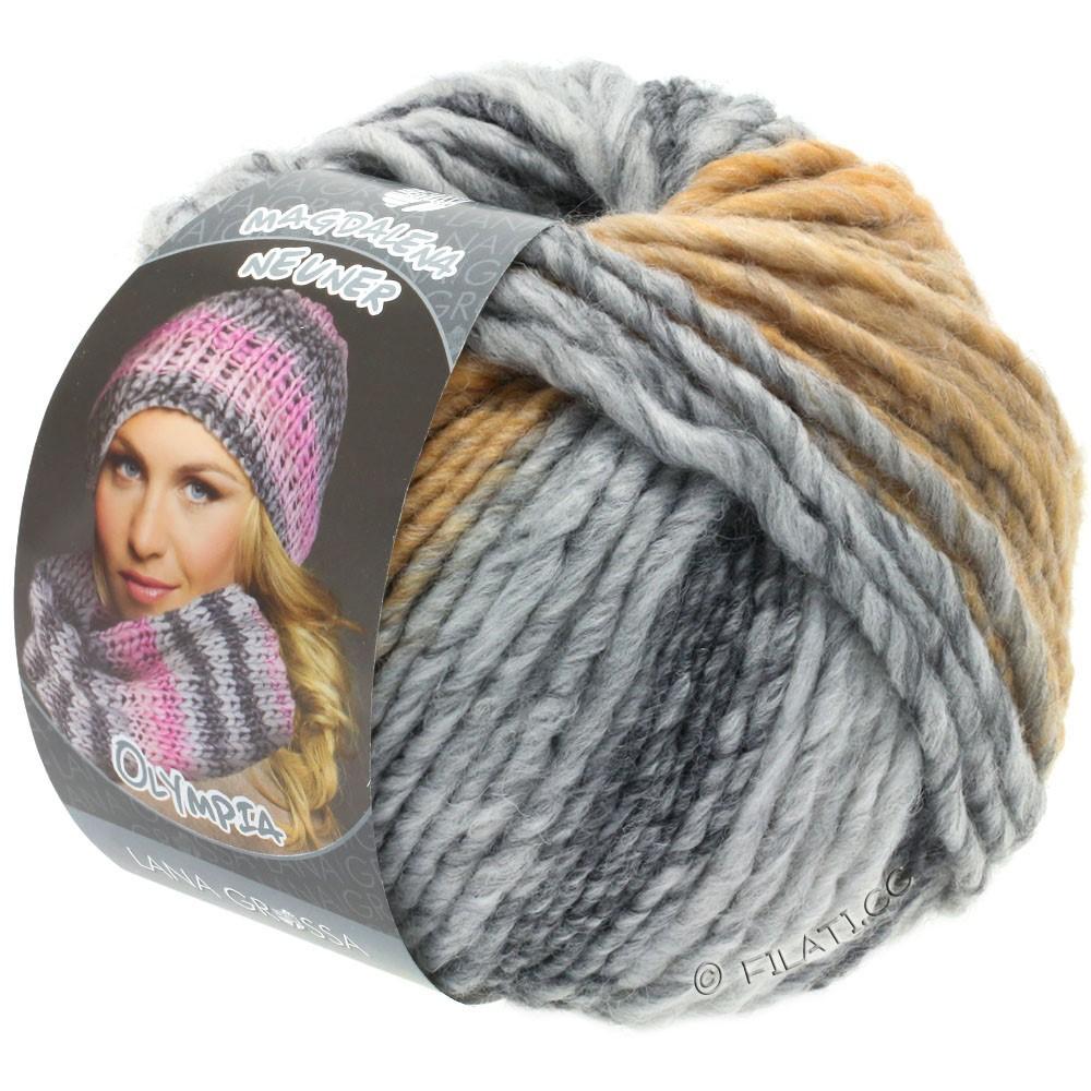 Lana Grossa OLYMPIA Grey | 806-donker grijs/licht grijs/zachtgrijs/beige/kameel