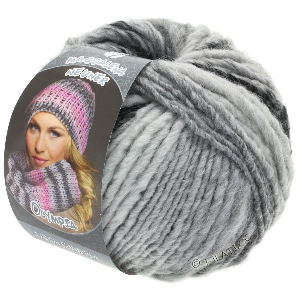 Lana Grossa OLYMPIA Grey | 812-antraciet/donker grijs/licht grijs/zilvergrijs
