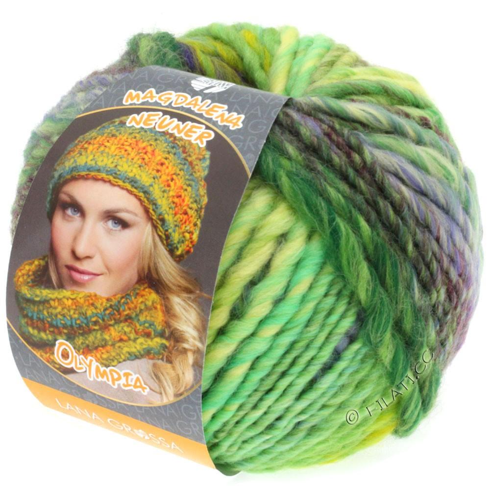 Lana Grossa OLYMPIA Classic | 051-licht groen/smaragd/violet/donker groen/roodpaars/groengeel