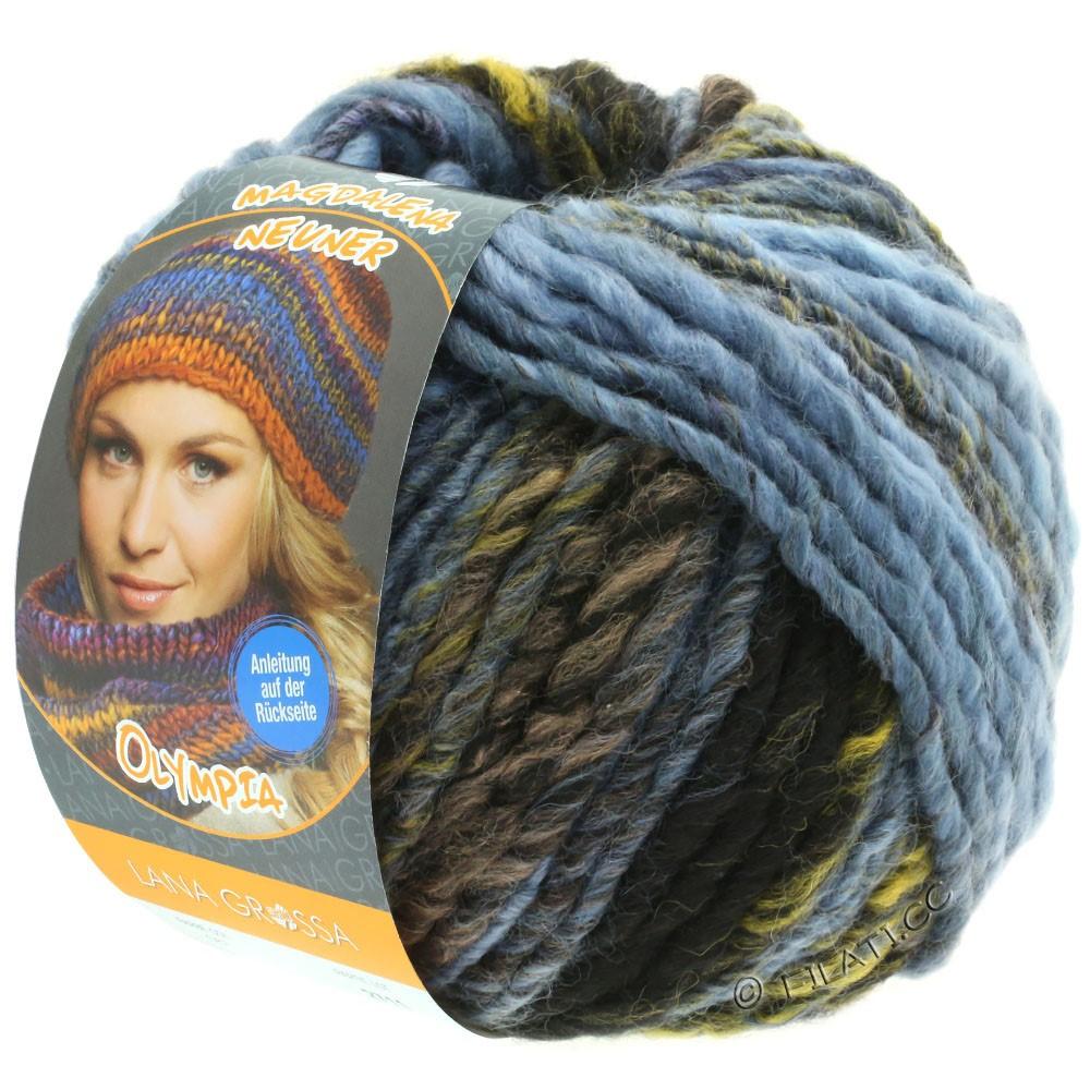 Lana Grossa OLYMPIA Classic   061-grijs bruin/mokka/duifblauw/marine/licht blauw/jeans
