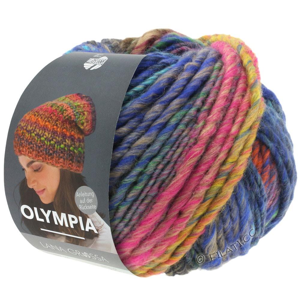 Lana Grossa OLYMPIA Classic   065-mosterdgeel/grijs/royaal/oranjebruin/marine/licht groen