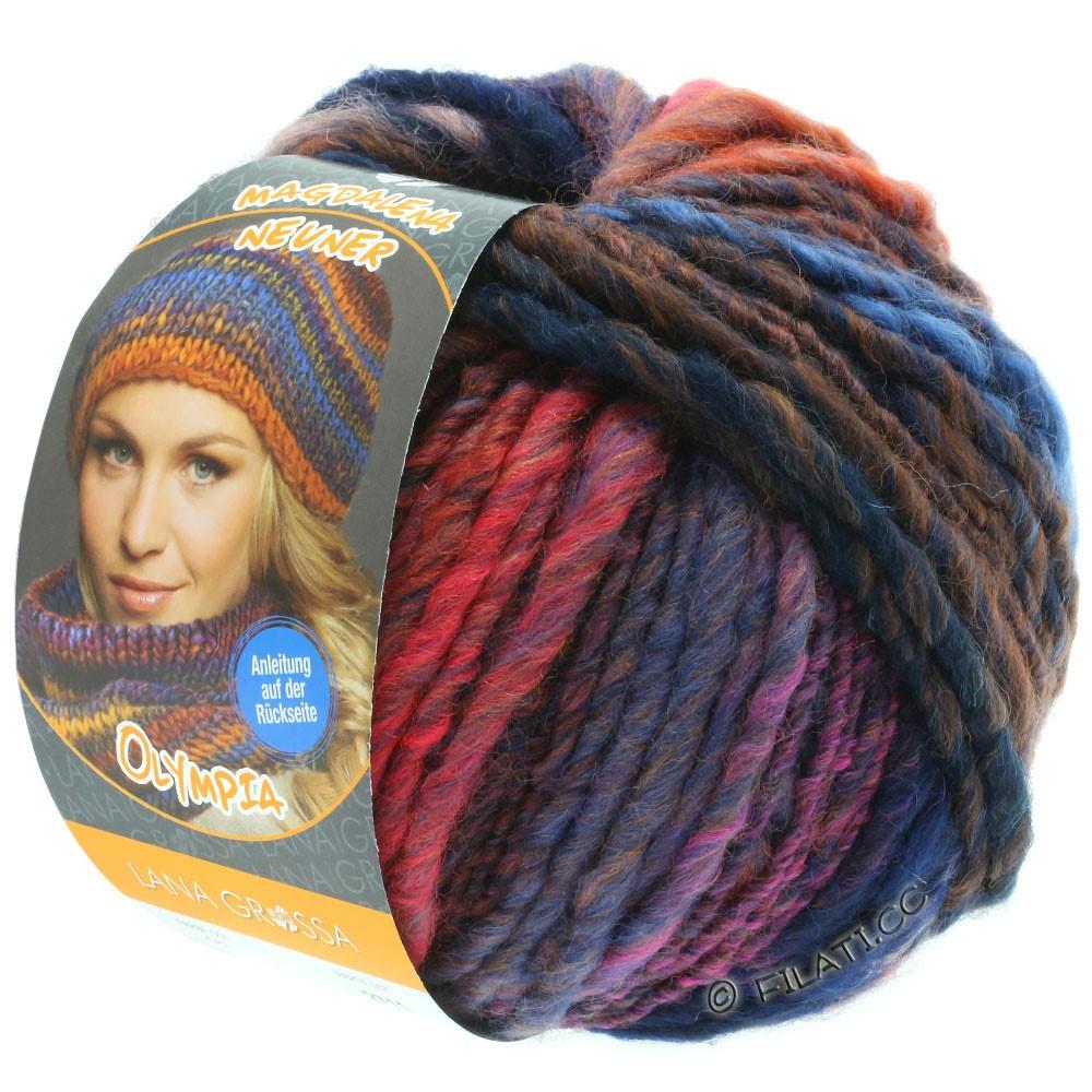 Lana Grossa OLYMPIA Classic   067-nacht blauw/koper/kastanje/violet/grijs bruin