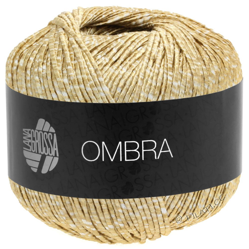 Lana Grossa OMBRA   01-wit/beige