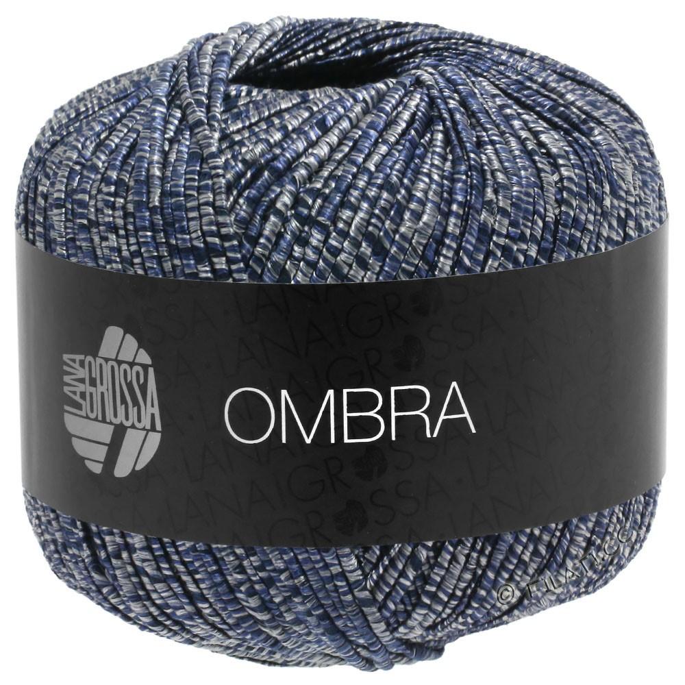Lana Grossa OMBRA   10-grijs/nacht blauw