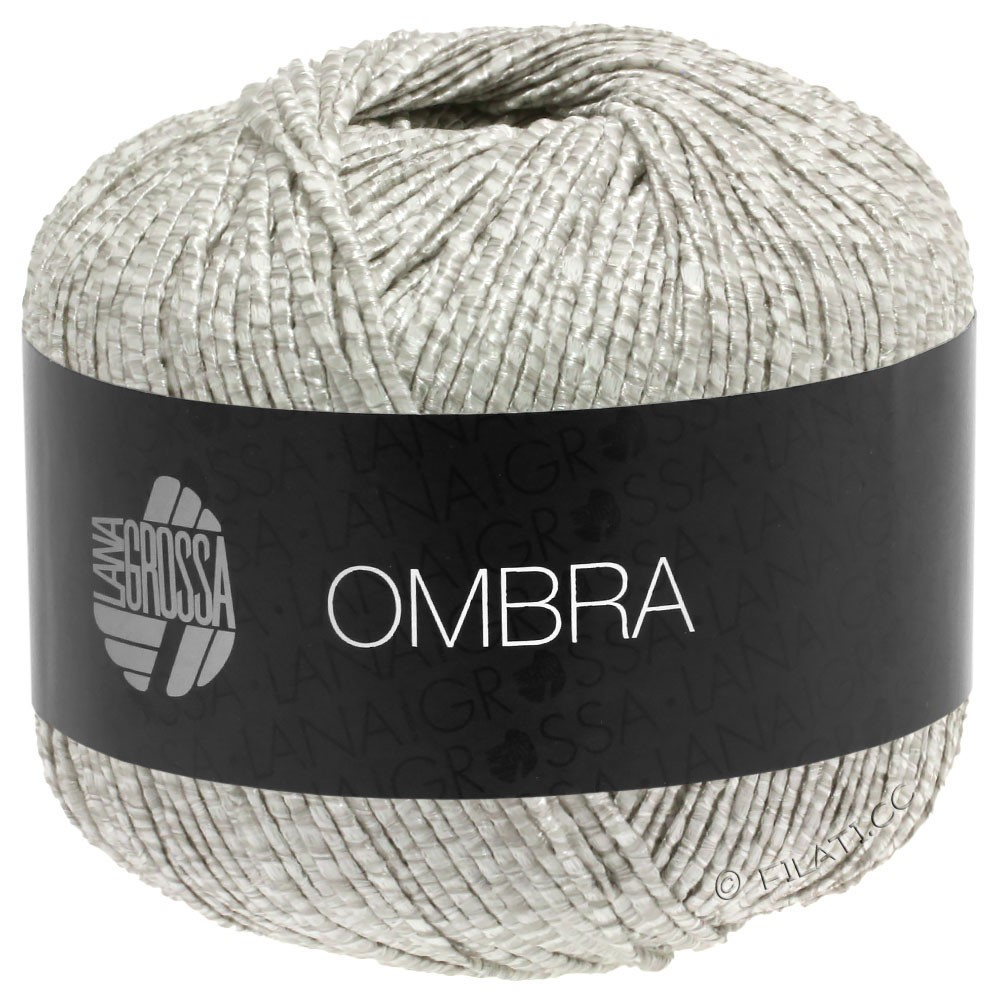 Lana Grossa OMBRA   14-zilvergrijs/wit
