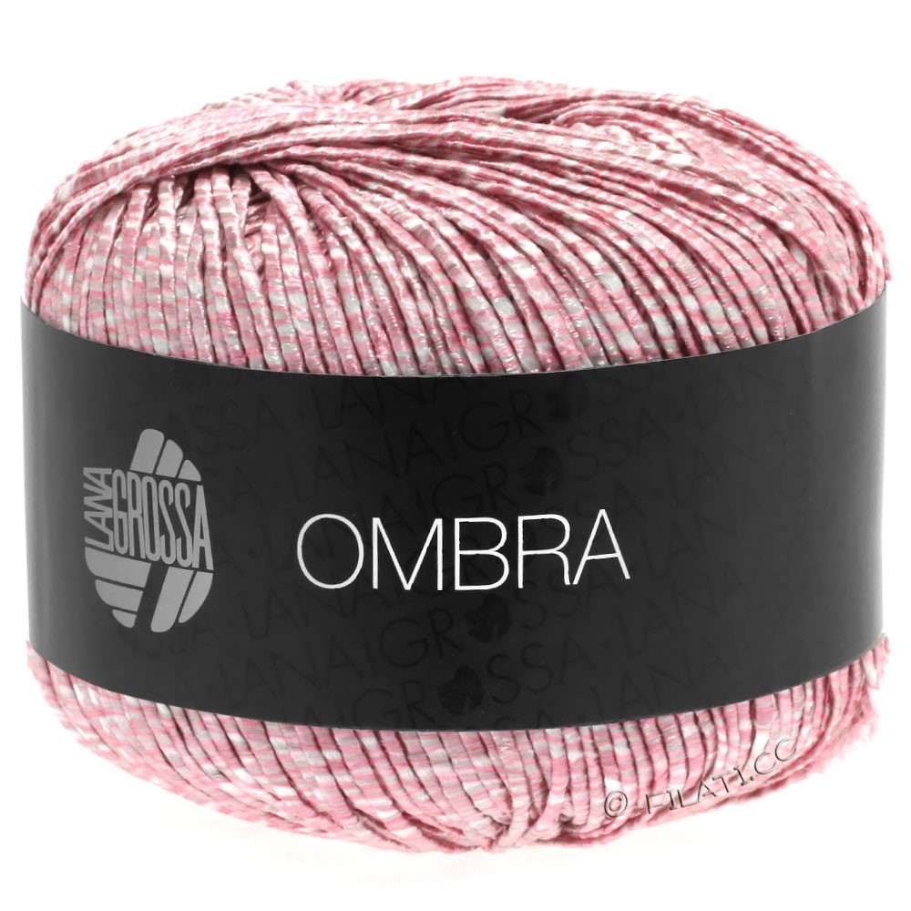 Lana Grossa OMBRA   15-rose/wit