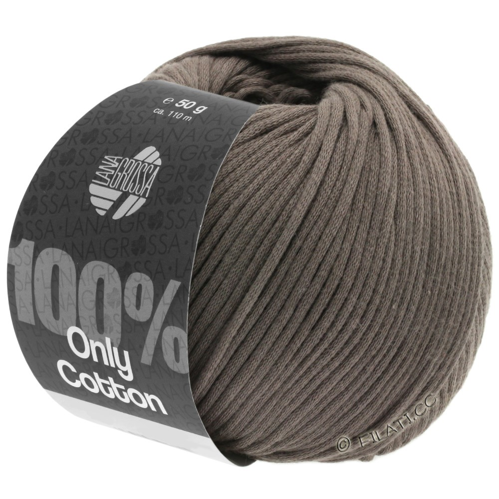 Lana Grossa ONLY COTTON | 04-grijs bruin