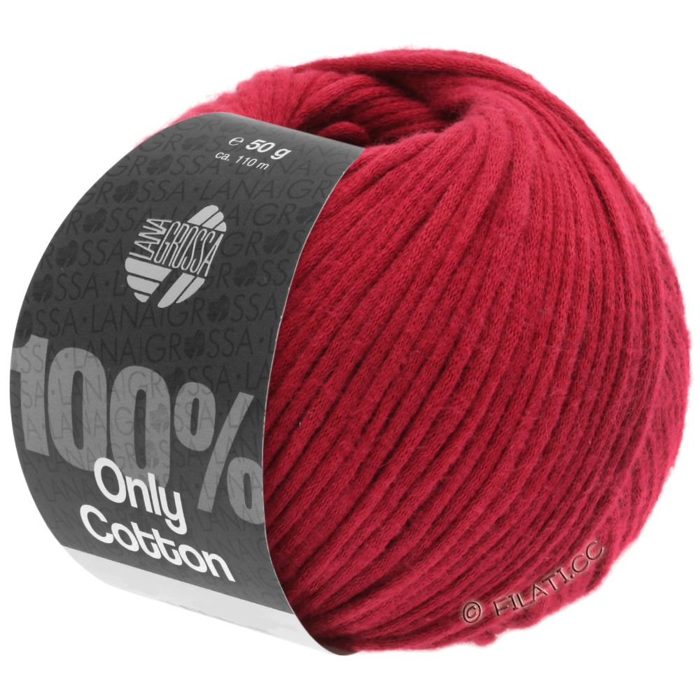 Lana Grossa ONLY COTTON | 08-donker rood