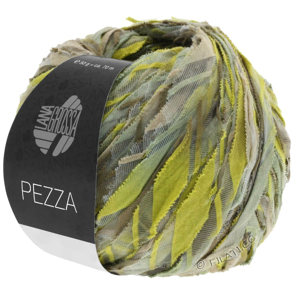 Lana Grossa PEZZA | 02-beige/groengeel/kaki/riet
