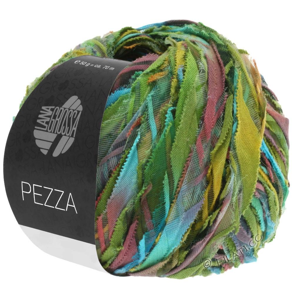 Lana Grossa PEZZA | 05-groen/turkoois/terracotta /oker/olijf
