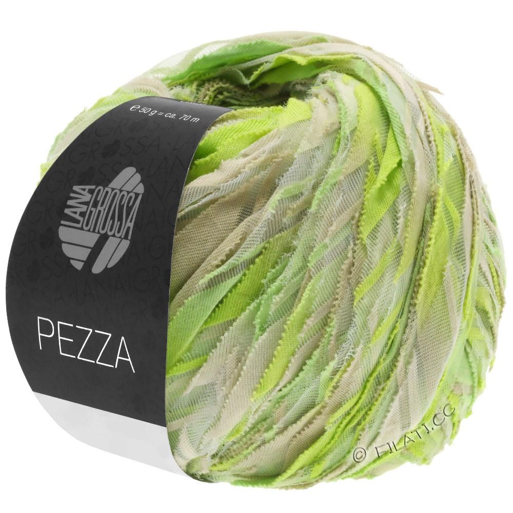 Lana Grossa PEZZA | 09-zachtgroen/geelgroen/appel groen/grège