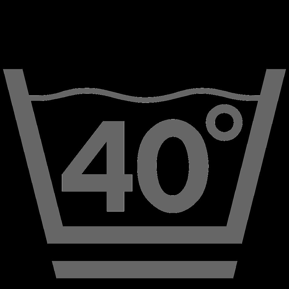 Wassen 40°C (zacht)