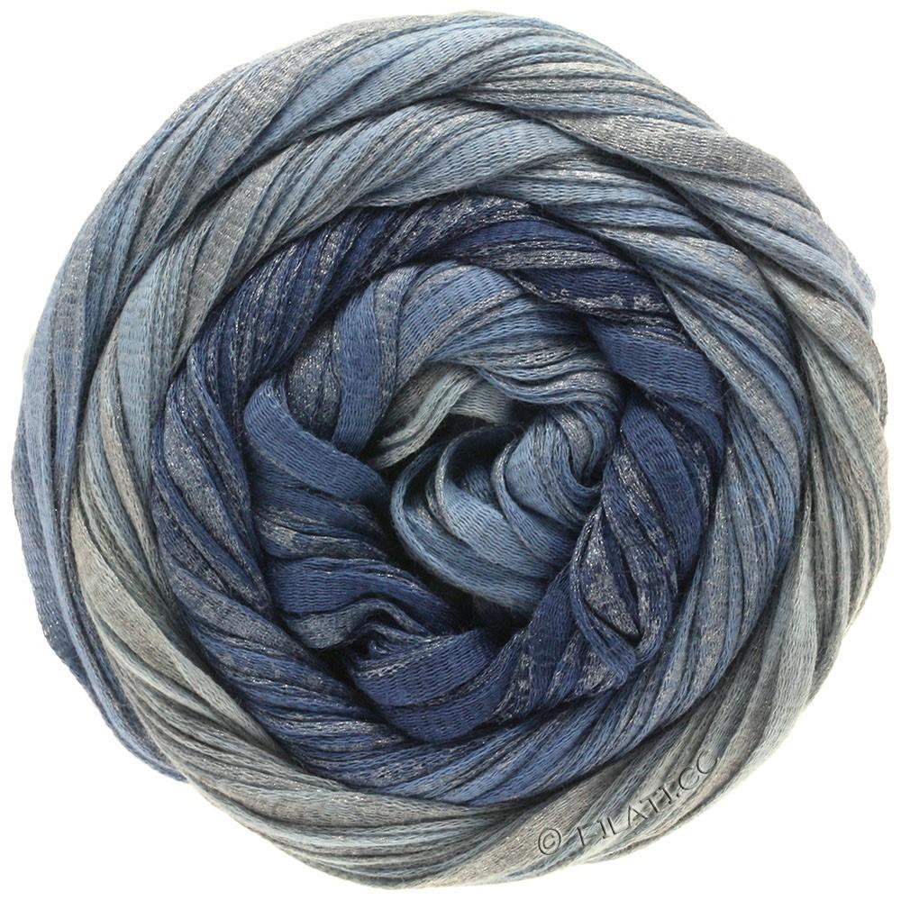 Lana Grossa ROMA Degradé | 303-jeans/duifblauw/zilver