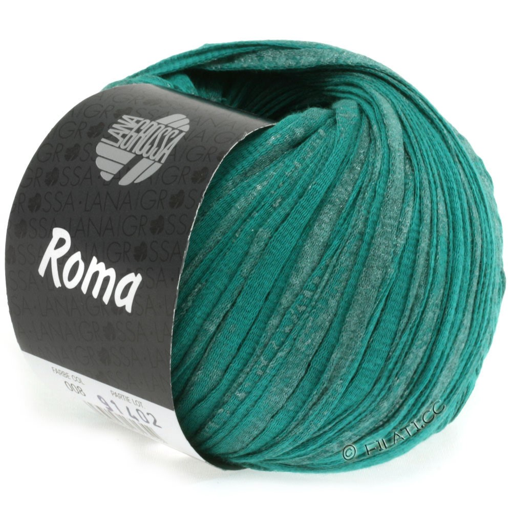 Lana Grossa ROMA   008-opaalgroen/zilver