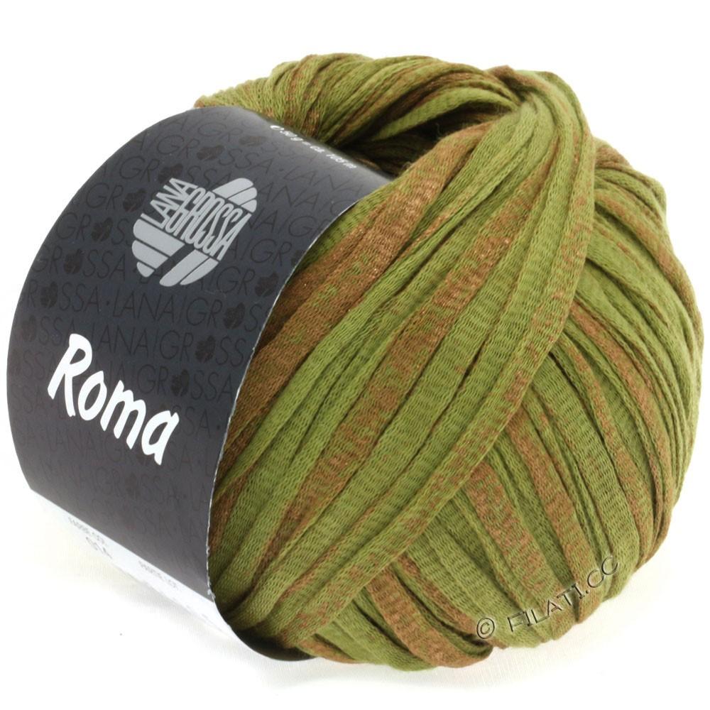 Lana Grossa ROMA   014-olijf/koper