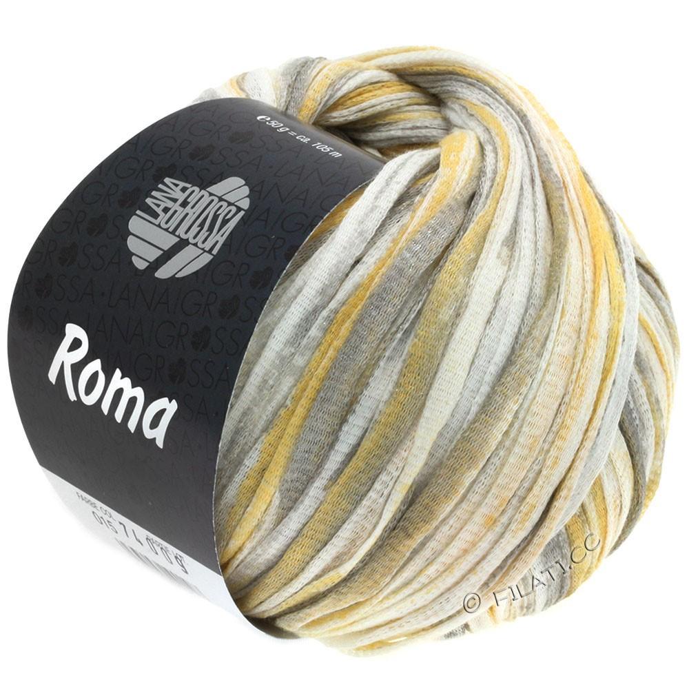 Lana Grossa ROMA   015-wit/goud/zilver