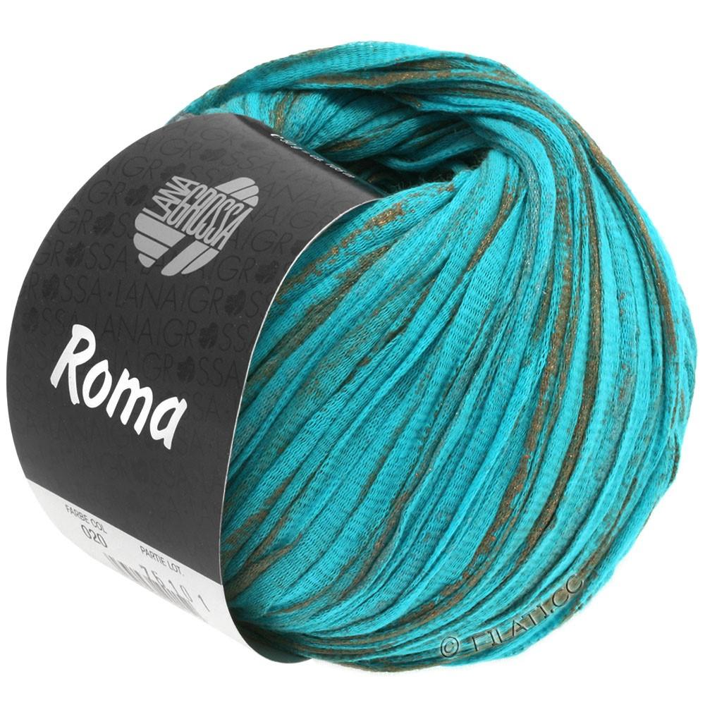 Lana Grossa ROMA   020-aqua/koper/zilver